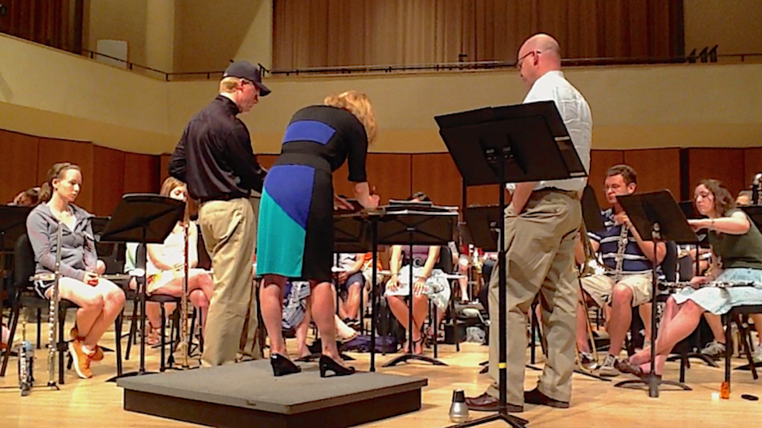 """Talking Winds"" rehearsal with Mallory Thompson and Pete Ellefson (Northwestern)"