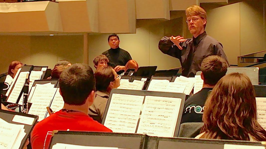 University of Oklahoma Wind Ensemble rehearsal (Danh Pham)