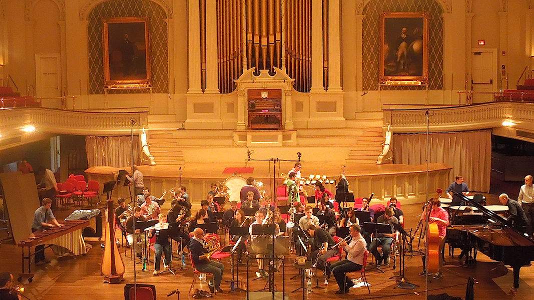 "Recording session for ""Symphony No. 3 - Quintet Matinee"" (Mechanics Hall)"