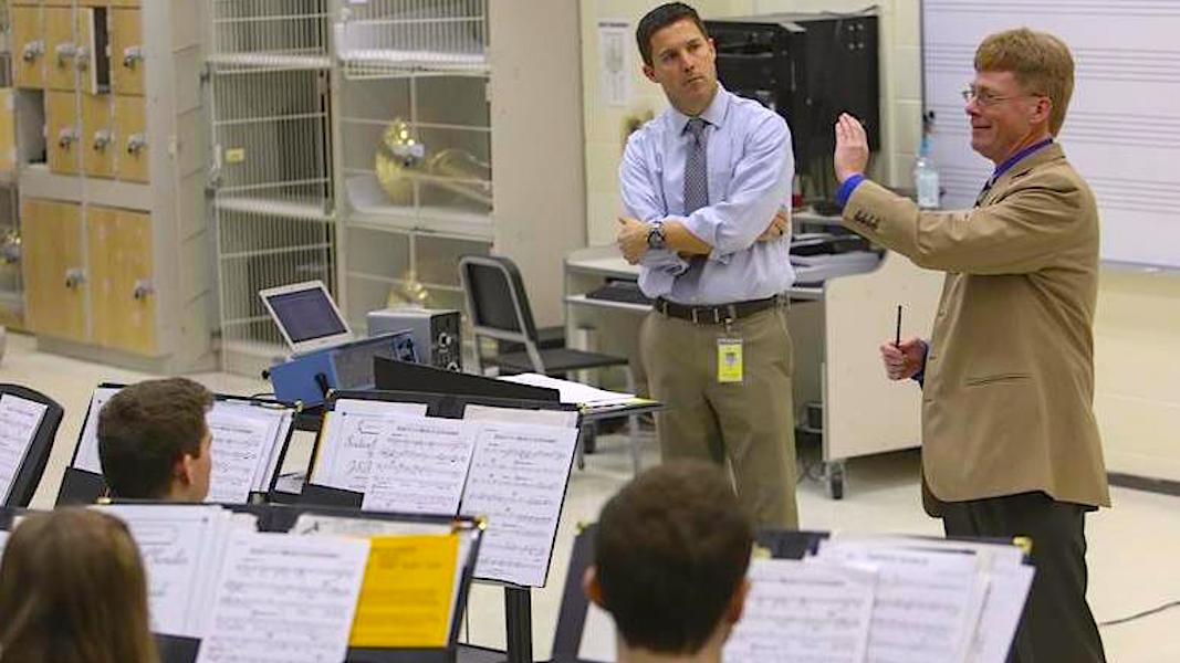"Waubonsie Valley High School, Mark Duker - ""Elegy"" rehearsal"